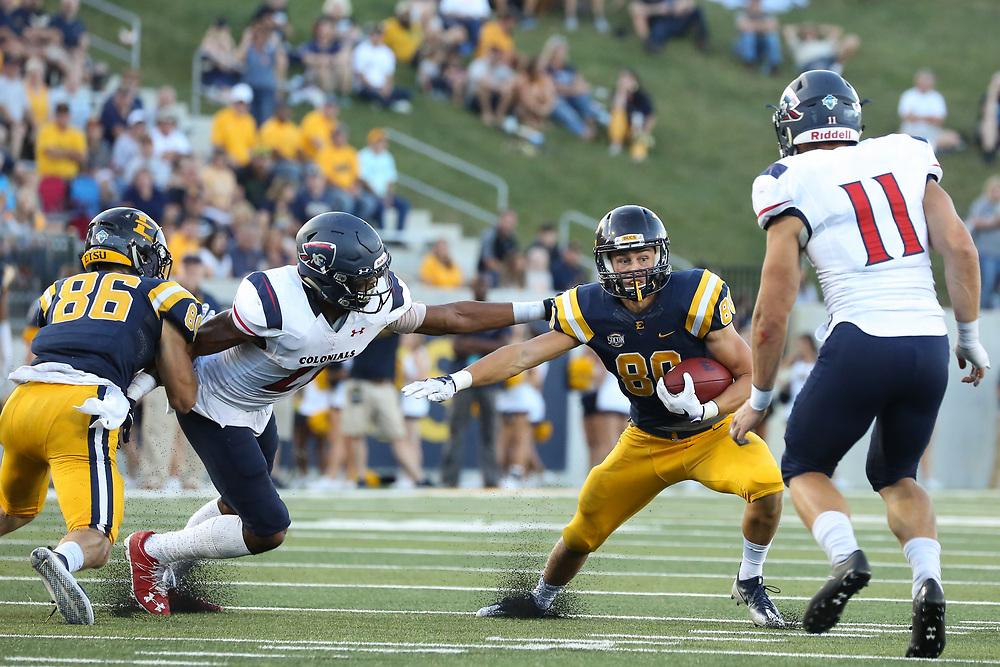 October 7, 2017 - Johnson City, Tennessee - William B. Greene Jr. Stadium: ETSU wide receiver Hunter Wike (80)<br /> <br /> Image Credit: Dakota Hamilton/ETSU