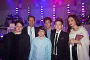 KAI SCHACTER; KENNY SCHACHTER; SAYE SCHACTER; GABRIEL SCHACTER; ADRIAN SCHACTER; ILONA SCHACTER, Gabrielle's Gala 2013 in aid of  Gabrielle's Angels Foundation UK , Battersea Power station. London. 2 May 2013.
