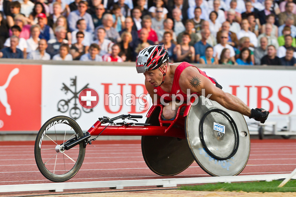 Tomasz HAMERLAK of Poland competes in the men's 1500m Wheelchair during the IAAF Diamond League meeting at the Letzigrund Stadium in Zurich, Switzerland, Thursday, Aug. 19, 2010. (Photo by Patrick B. Kraemer / MAGICPBK)