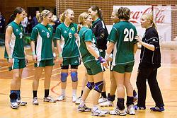 Team of RK Olimpija at last 10th Round handball match of Slovenian Women National Championships between RK Krim Mercator and RK Olimpija, on May 15, 2010, in Galjevica, Ljubljana, Slovenia. Olimpija defeated Krim 39-36, but Krim became Slovenian National Champion. (Photo by Vid Ponikvar / Sportida)