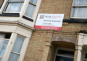 Taylor Properties sign for property recently acquired Lowestoft, Suffolk, England