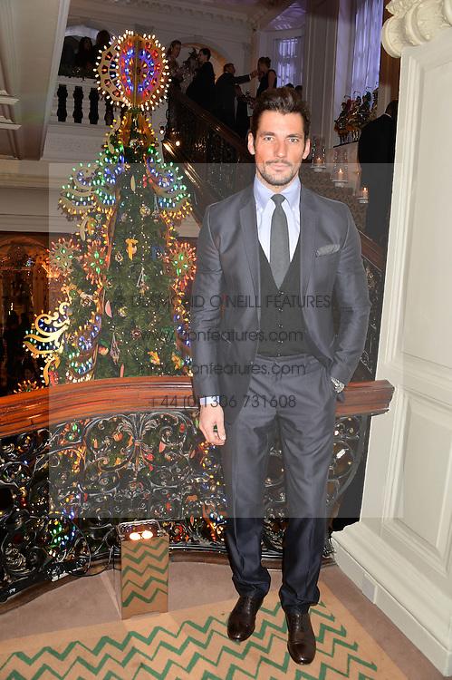 DAVID GANDY at the Claridge's Christmas Tree By Dolce & Gabbana Launch Party held at Claridge's, Brook Street, London on 26th November 2013.