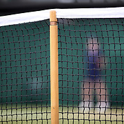 LONDON, ENGLAND - JULY 13:  The net and support on an outer court during the Wimbledon Lawn Tennis Championships at the All England Lawn Tennis and Croquet Club at Wimbledon on July 13, 2017 in London, England. (Photo by Tim Clayton/Corbis via Getty Images)