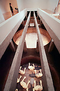 VENICE, ITALY..June 1997..47th Biennale of Venice.Greek Pavillion..Installation by Dimitri Alithinos, to be concealed/buried here forver on 9/11/97..(Photo by Heimo Aga)