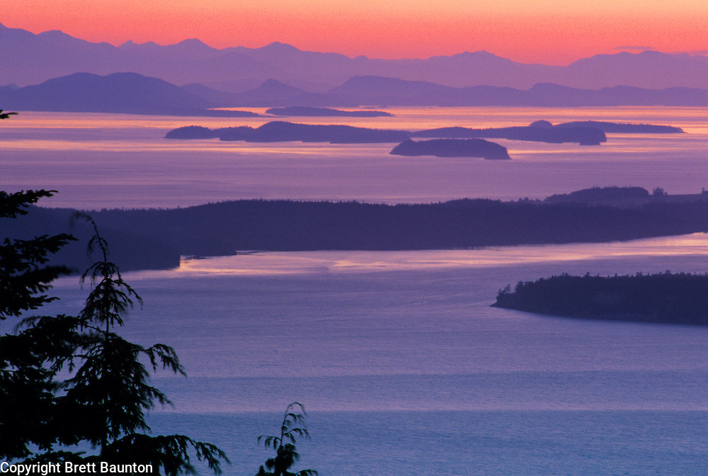 San Juan Islands, Chuckanut Mountains Sunset