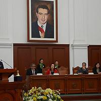 Toluca, México (Septiembre 05, 2016).- Jorge Olvera García, rector de la UAEM inauguro el Concurso Nacional de Oratoria y Debate Público El Universal Estado de México 2016, en donde participaran jóvenes de 32 estados de la República Mexicana.  Agencia MVT / José Hernández.