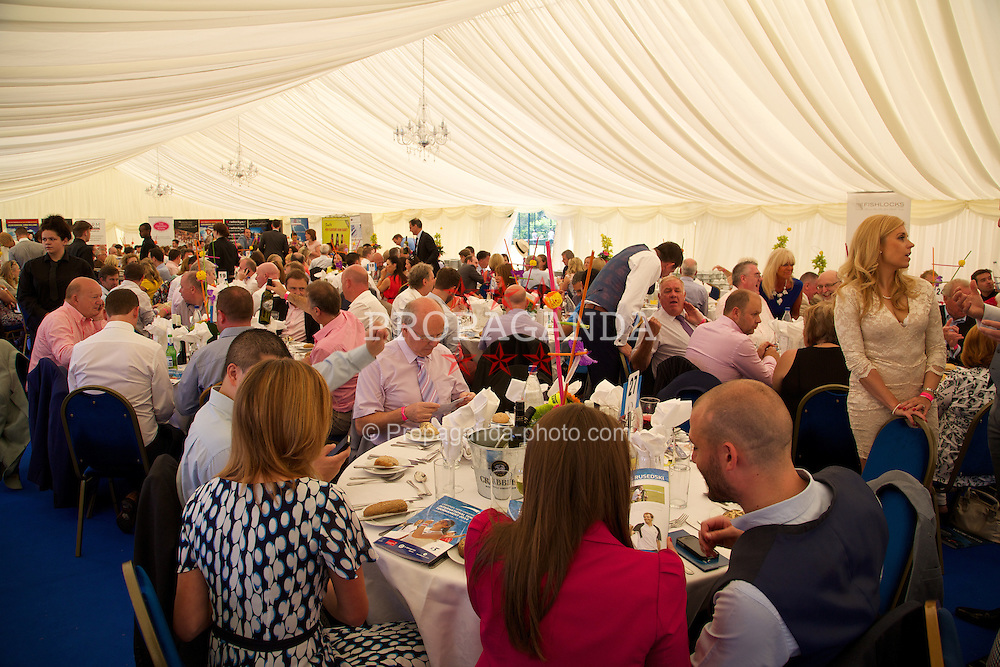 LIVERPOOL, ENGLAND - Friday, June 20, 2014: Corporate hospitality during Day Two of the Liverpool Hope University International Tennis Tournament at Liverpool Cricket Club. (Pic by David Rawcliffe/Propaganda)