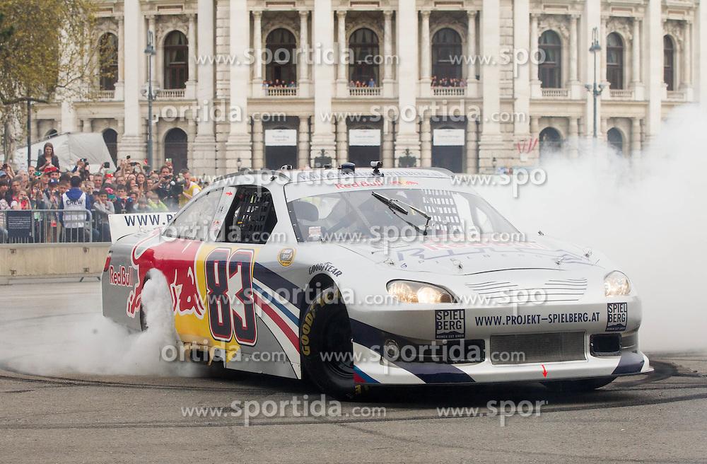 Pierre Gasly (FRA) of NASCAR at Spielberg Red Bull Showrun, on April 22, 2015 in Rathausplatz, Vienna / Wien, Austria. Photo by Vid Ponikvar / Sportida
