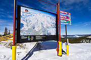Trail map, Mammoth Mountain Ski Area, Mammoth Lakes, California USA