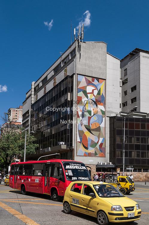 Colombie, région Antioquia, ville Medellin, centre-ville, quartier des affaires // Colombia, Antioquia region, Medellin city, downtown, business center town