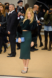 Arrivals for Burberry Prorsum Spring / Summer 2014. <br />