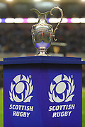 The 1872 Cup at the Guinness Pro 14 2017_18 match between Edinburgh Rugby and Glasgow Warriors at Murrayfield, Edinburgh, Scotland on 23 December 2017. Photo by Kevin Murray.