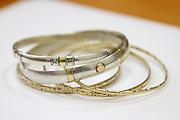 Antique tradition golden bracelets jewellery Tripoli, Libya.