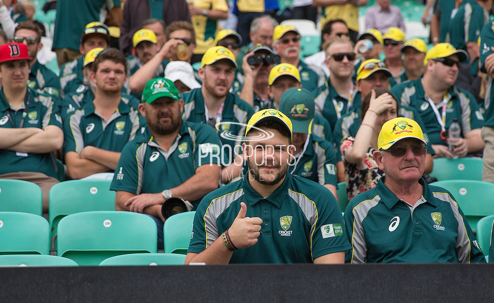 Australian Fans before the 1st day of the 5th Investec Ashes Test match between England and Australia at The Oval, London, United Kingdom on 20 August 2015. Photo by Phil Duncan.