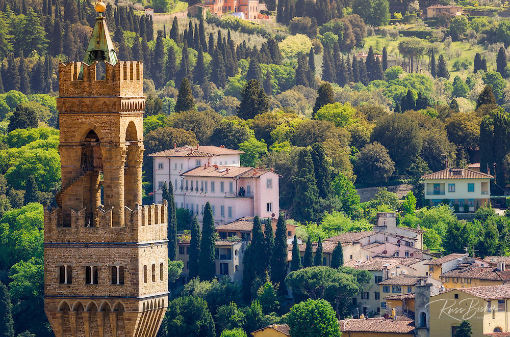 Bell tower and houses, Florence, Tuscany, Italy