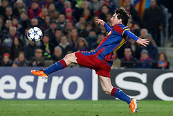 FC Barcelona's Leo Messi during UEFA Champions League match.March 8,2011.