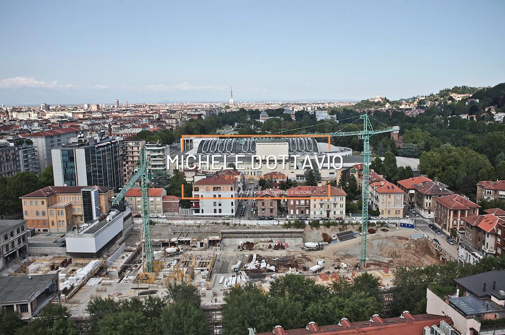 Torino agosto 2012  cantiere ex area Isvor Fiat, sede della prima fabbrica della Fiat,
