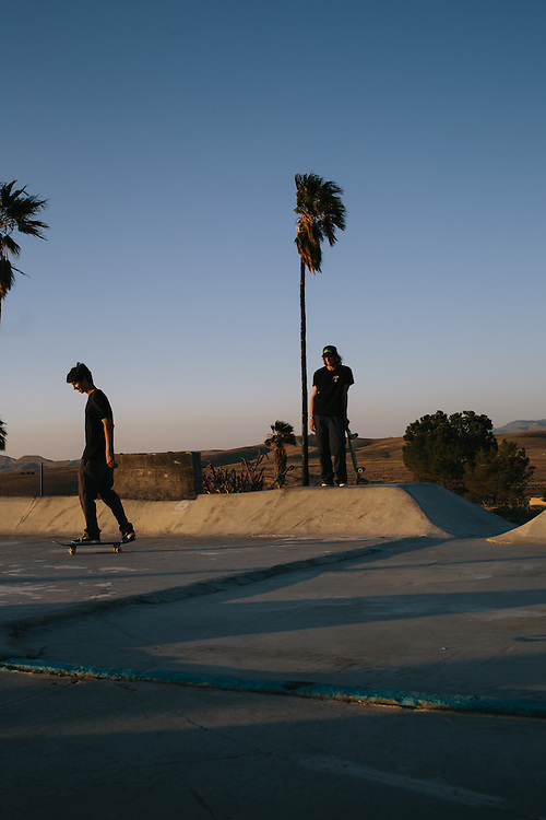 Skaters at Kern Side, an little known skate park in the foothills outside of Bakersfield, California.
