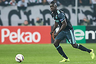 Warsaw, Poland - 2017 February 16: Davinson Sanchez of Ajax Amsterdam controls the ball during soccer match Legia Warszawa v Ajax Amsterdam - UEFA Europe League  at Municipal Stadium on February 16, 2017 in Warsaw, Poland.<br /> <br /> Mandatory credit:<br /> Photo by © Adam Nurkiewicz / Mediasport<br /> <br /> Adam Nurkiewicz declares that he has no rights to the image of people at the photographs of his authorship.<br /> <br /> Picture also available in RAW (NEF) or TIFF format on special request.<br /> <br /> Any editorial, commercial or promotional use requires written permission from the author of image.