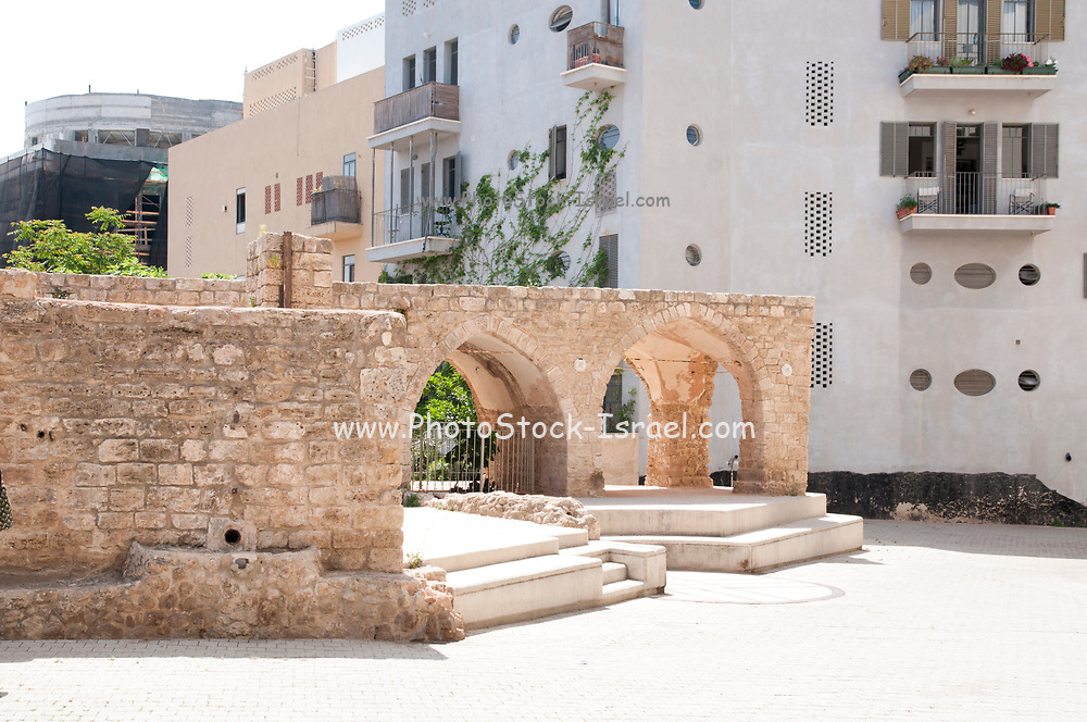 Ancient Well house, Jaffa, Israel. In the past this building housed a water well, the pump wheel and water storage tanks used to irrigate the famous Jaffa orange grove