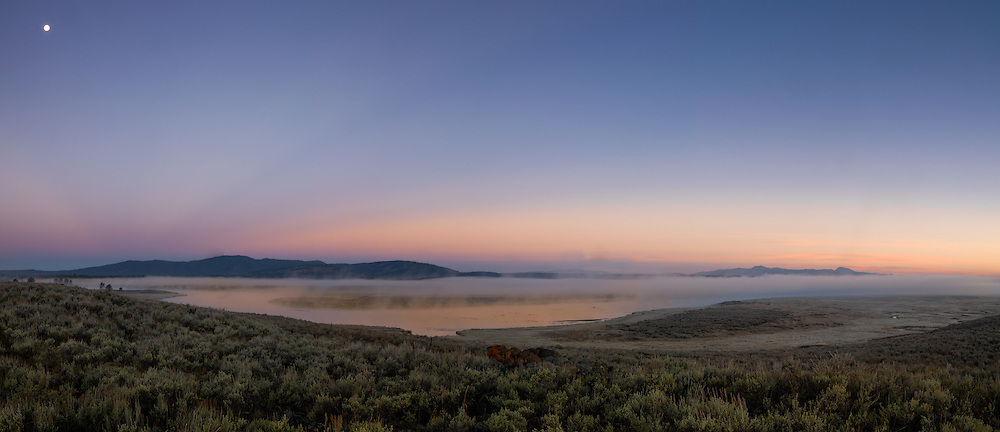 Fog rises form the Henry's Fork of the Snake River in Harriman State Park.