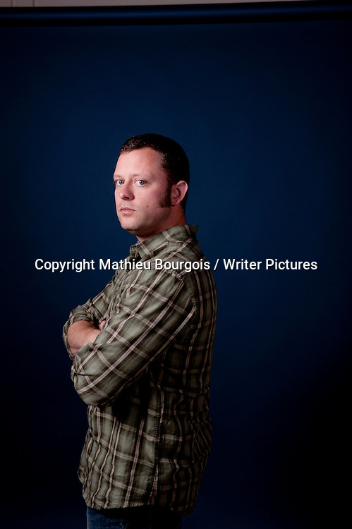 Benjamin Percy, American writer, at the Festival America in Vincennes, Paris, France, September 18th, 2010. <br /> Copyright Mathieu Bourgois/ Writer Pictures.<br /> Contact +44 (0)20 822 41564<br /> info@writerpictures.com<br /> www.writerpictures.com