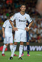 FUSSBALL  INTERNATIONAL  PRIMERA DIVISION  SAISON 2011/2012   23.08.2012 El Clasico  Super Cup 2012 FC Barcelona - Real Madrid  Cristiano Ronaldo (Real Madrid) enttaeuscht