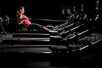 Breast cancer survivor Trish Hayes exercising at her rowing gym, Thursday, Sept. 18, 2014 in Houston.<br /> <br /> (Eric Kayne/For the Chronicle)