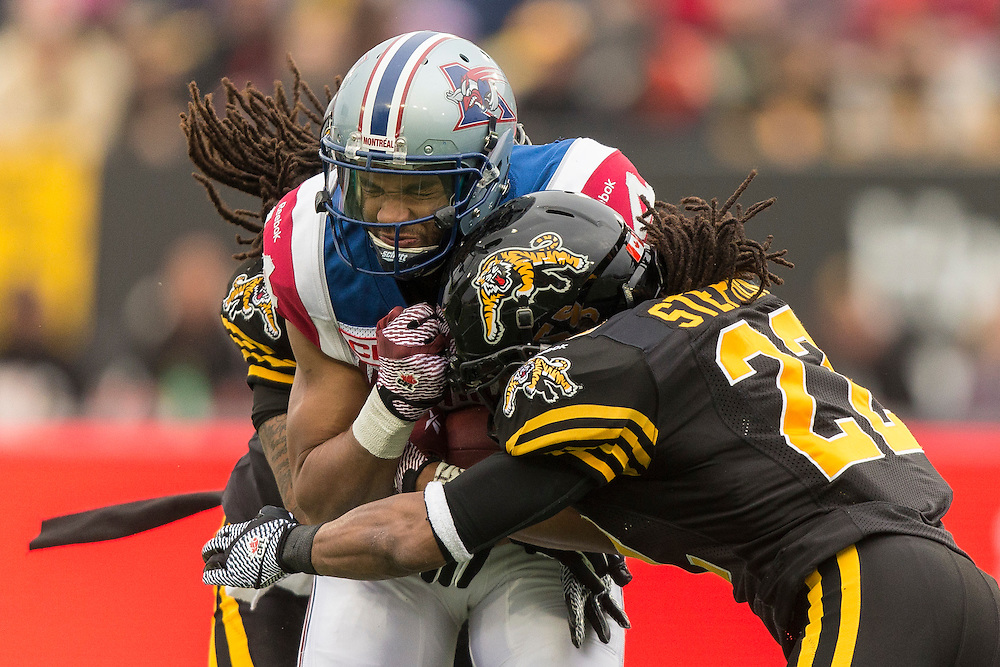 during _____ quarter CFL action in Hamilton on Sunday, 11 23, 2014.  (CFL PHOTO - Geoff Robins)