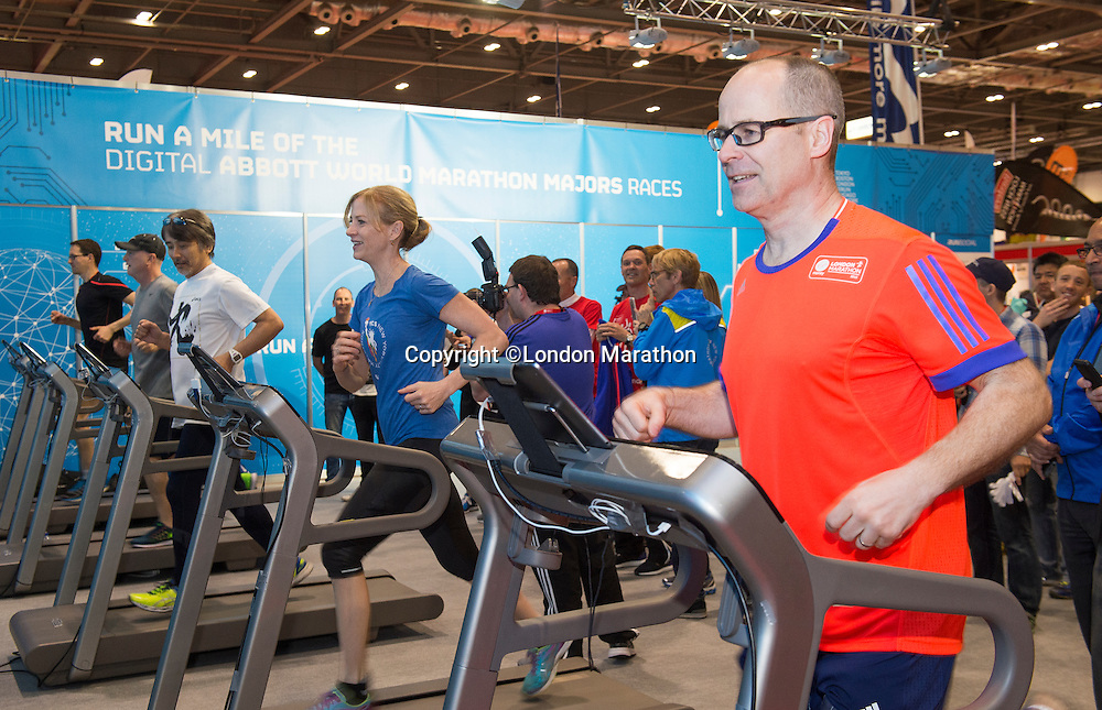 Virgin Money London Marathon 2015<br /> <br /> The Race Directors of the Abbott World Marathon Majors got together at the Virgin Media London Marathon Expo in London today.<br /> <br /> <br /> Photo: Chris Raphael for Virgin Money London Marathon<br /> <br /> This photograph is supplied free to use by London Marathon/Virgin Money.
