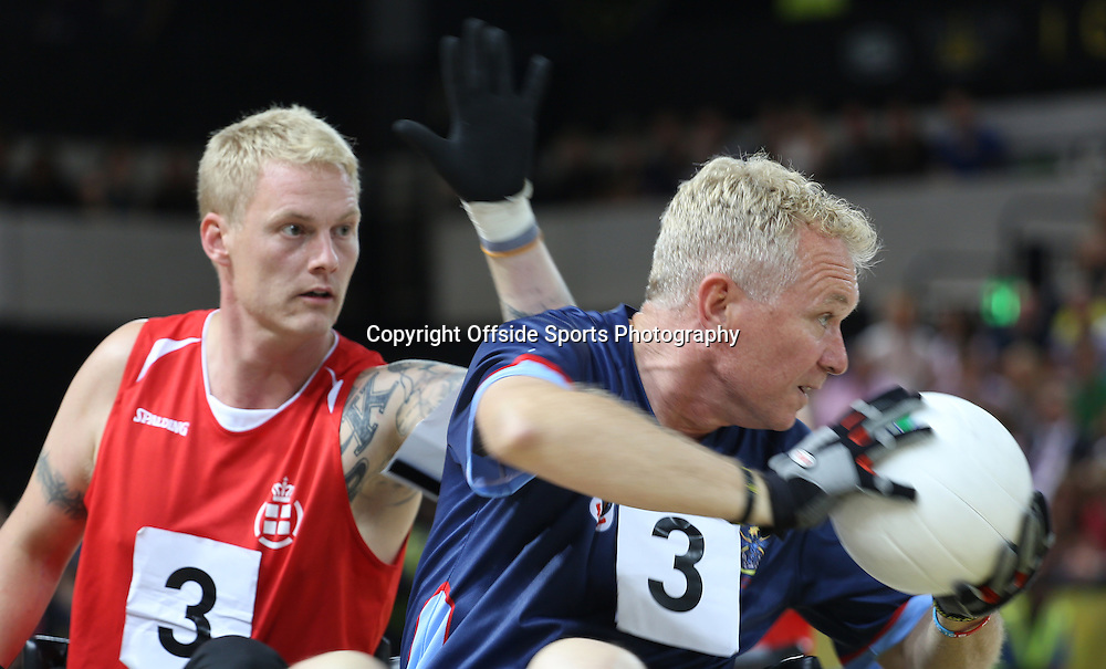 12 September 2014 - Invictus Games Day 2 - General Action in the Bronze medal match between Denmark and Australia.<br /> <br /> Photo: Ryan Smyth/Offside