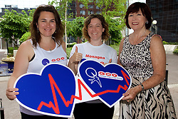 Press Release<br /> Monday, 6th June 2016<br /> <br /> Photo caption:<br /> Clare Scanlan, Jessica Foley and Marie Green from Cry warming up for the Women&rsquo;s Mini Marathon which they ran in aid of CRY (Cardiac Risk in the Young) . CRY is an Irish charity that offers free screening and support to those who have lost loved ones to SADS (Sudden Adult Death Syndrome). Money raised by supporters at the mini marathon will go towards the free service provided at the CRYP Centre in Tallaght Hospital. www.cry.ie.<br /> <br /> Team CRY Ireland join together to support and raise funds for those effected by SADS (Sudden Adult Death Syndrome) <br /> <br /> Team CRY Ireland (Cardiac Risk in the Young) the charity which supports families affected by SADS (Sudden Adult Death Syndrome) welcomed all runners and walkers, from families and friends affected by SADS to members of the public who simply wanted to help and &lsquo;run for CRY&rsquo;s sake&rsquo; at today&rsquo;s VHI Mini Marathon.<br /> <br /> Among the runners for CRY was Clare Scanlan, a popular leader on Operation Transformation 2016, who lost her son Darra aged 16 in 2011 and knows first-hand the work CRY Ireland do, speaking about CRY and the mini marathon today Clare said, &ldquo;The mini marathon is great fun each year and a great way to keep fit. The money raised for CRY Ireland today will go directly towards helping families like me who have a family member due to SADS. The charity offers support and free screening to families and really relies on donations and fundraising to keep operating. It is a small charity that helps so many people and I am so proud to be here to raise awareness for SADS and CRY. So many families are affected by SADS each year and need all the support they can get.&rdquo;<br /> <br /> As the charity&rsquo;s biggest fundraiser, monies raised from today&rsquo;s mini marathon will be used to fund the activities of the Centre for Cardiac Risk in Younger Persons (CRYP) in Tallaght Hospital which provides comprehensive cardiac evaluation of those who may be at risk from SCD either because of family