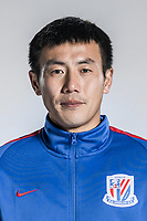 **EXCLUSIVE**Portrait of Chinese soccer player Qin Sheng of Shanghai Greenland Shenhua F.C. for the 2018 Chinese Football Association Super League, in Shanghai, China, 2 February 2018.