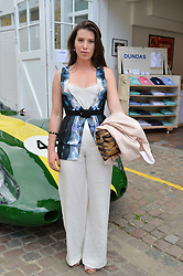 LILY LEWIS at the launch of Dundas London held at Fiskins Classic Car Showroom, 14 Queens Gate Place Mews, London on 25th June 2014.