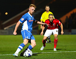 Callum Camps of Rochdale and Joe Cole of Coventry City - Mandatory byline: Matt McNulty/JMP - 07966 386802 - 20/10/2015 - FOOTBALL - Gigg Lane - Rochdale, England - Rochdale v Coventry - Sky Bet League One