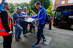 Tom Lockyer of Bristol Rovers arrives at Loftus Road prior to kick off - Mandatory by-line: Ryan Hiscott/JMP - 28/08/2018 - FOOTBALL - Loftus Road - London, England - Queens Park Rangers v Bristol Rovers - Carabao Cup