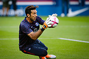 PSG Gianluigi Buffon warms up prior to the French championship L1 football match between Paris Saint-Germain (PSG) and Caen on August 12th, 2018 at Parc des Princes, Paris, France - Photo Geoffroy Van der Hasselt / ProSportsImages / DPPI