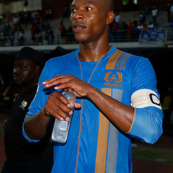 Philani Cele of Royal Eagles FC during the Premier Soccer League (PSL) promotion play-off  match between  Royal Eagles and Tshakuma FC at the Chatsworth Stadium Durban.South Africa ICC,15,05,2019
