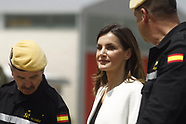 051818 Queen Letizia attends a Work meeting and visit to the facilities of the UME