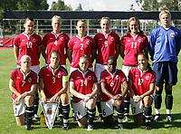 Fotball, 26. juli 2005, U21 damer, Åpent nordisk mesterskap, finale, Norge- USA 1-4,  lagbilde Norge teampicture, team-picture, team picture