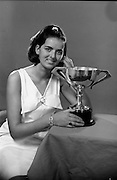 16/10/1967<br /> 10/16/1967<br /> 16 October 1967<br /> <br /> Photo of Miss Mary Brennan with her Trophy for  Mary Wallis Hair Fashion