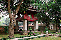 Pagoda in the grounds of the Temple of Literature in Hanoi.