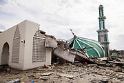 Remain of Masjid Baiturrahman destroyed after a 7.5 earthquake magnitude hit off the coast of Donggala, Palu Sulawesi Central, Indonesia on Sept. 28th causing a tsunami.
