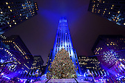 The Rockefeller Center Christmas Tree is lit at the 83rd Annual Rockefeller Center Christmas Tree Lighting Ceremony, Wednesday, Dec. 2, 2015 in New York. (Photo by Diane Bondareff/Invision for Tishman Speyer/AP Images)