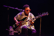 Meschell Ndegeocello performing  at the Teatro Lara in Madrid, 2013