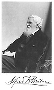 Alfred Russell  Wallace (1823-1913) Welsh-born British naturalist.  From Edward Clodd 'Pioneers of Evolution', London,1908