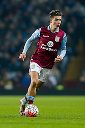 Jack Grealish of Aston Villa in action - Mandatory byline: Rogan Thomson/JMP - 19/01/2016 - FOOTBALL - Villa Park Stadium - Birmingham, England - Aston Villa v Wycombe Wanderers - FA Cup Third Round Replay.