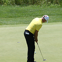 Jean-Francois Remesy putting for birdie on the 7th hole at the 2016 American Family Championship held at University Ridge Golf Course, Madison,  WI. on June 25, 2016.<br /> <br /> <br /> <br /> <br /> <br />  2016 American Family Championship held at University Ridge Golf Course, Madison,  WI. on June 25, 2016.