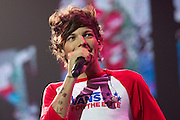 One Direction's Louis Tomlinson in concert at Vector Arena, Auckland, New Zealand, Saturday, October 12, 2013. Photo: David Rowland/Photosport