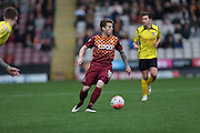 Billy Clarke (Bradford) sets up the game's first attack during the The FA Cup match between Bradford City and Chesham FC at the Coral Windows Stadium, Bradford, England on 6 December 2015. Photo by Mark P Doherty.